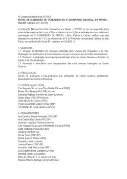 Estão abertas até 24/8 as inscrições para o 4º Congresso - PUC-SP