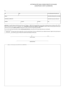 autorização para fornecimento de dados cadastrais à ebct (correios)