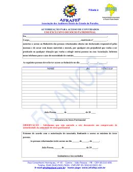 Autorização para Acesso de Convidados