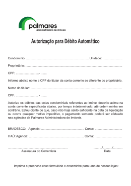 Autorização para Débito Automático