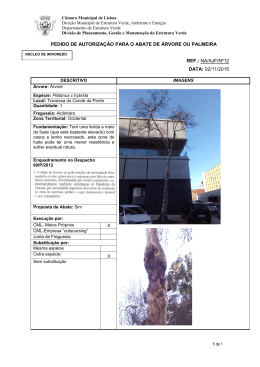 pedido de autorização para o abate de árvore ou palmeira ref.