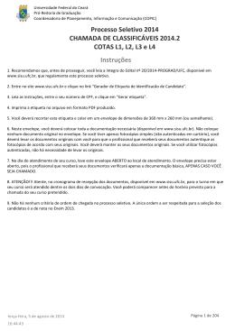 Lista de Classificáveis 2014.2