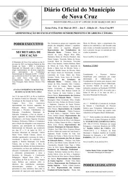 Diário Oficial do Município de Nova Cruz