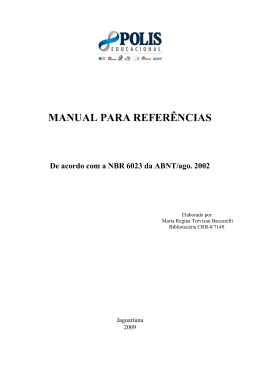 MANUAL PARA REFERENCIAS