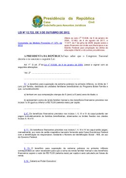 Lei Federal 12722/2012 - Ministério Público do Estado do Amapá