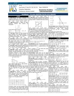 Vestibular - Privadas B(ESPM/PUCRS/UCS/UNASP) Geometria