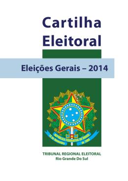 Cartilha Eleitoral - Tribunal Regional Eleitoral do Rio Grande do Sul