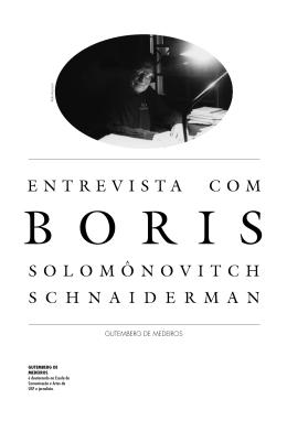 Entrevista com Boris Solomonóvitch