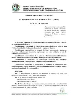 instrução normativa nº 001/2014 - Nova Lacerda