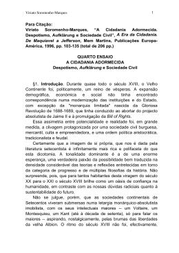 Despotismo Luzes e Sociedade Civil 1996