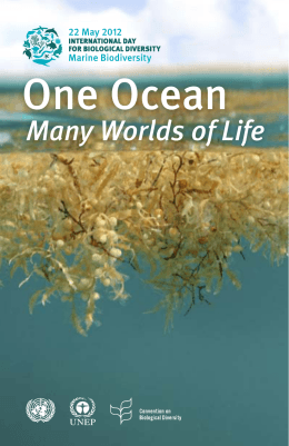 One Ocean, Many Worlds of Life. - Convention on Biological Diversity