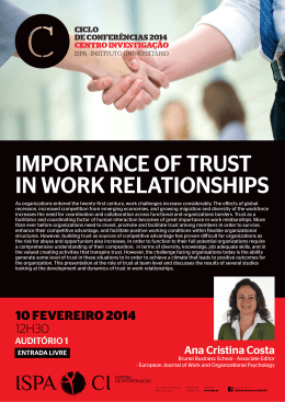 importance of trust in work relationships - Investigação