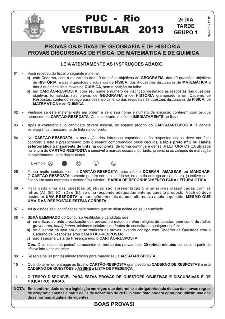 99875e05171 VEST 2013 PUC Rio e gabaritos