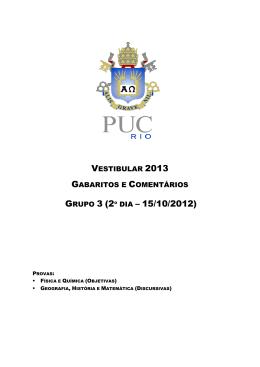 GRUPO 3 (2º DIA – 15/10/2012) - PUC-Rio