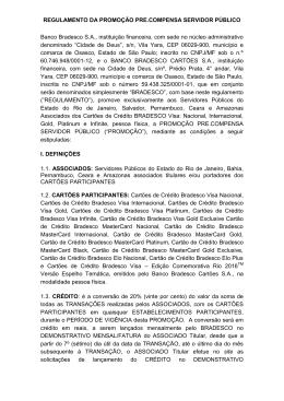 REGULAMENTO DA PROMOÇÃO PRE.COMPENSA SERVIDOR