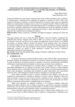estratégias de negócios dos bancos bradesco, itaú e unibanco