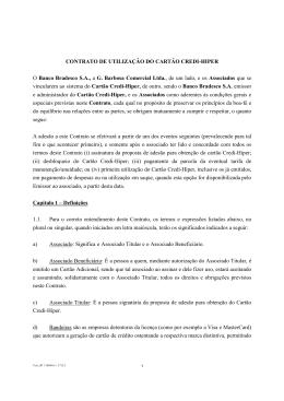 CONTRATO DE UTILIZAÇÃO DO CARTÃO CREDI