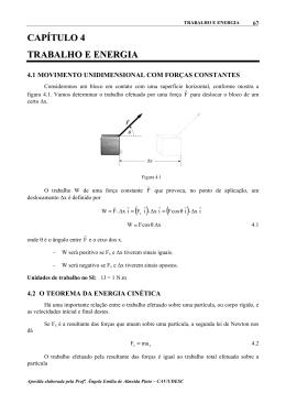 CAPÍTULO 4 TRABALHO E ENERGIA - CAV