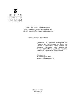 FÍSICA APLICADA AO DESPORTO - CEFET/RJ