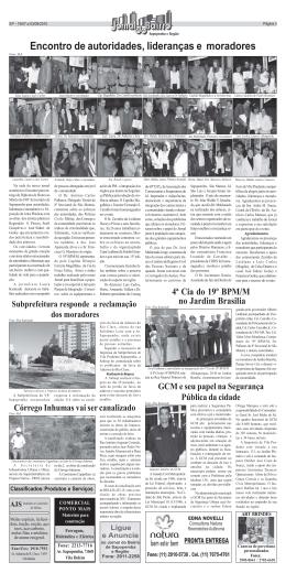 Pagina 3 - Prefeitura de São Paulo