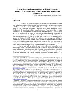 O Constitucionalismo antiliberal de Carl Schmitt: democracia