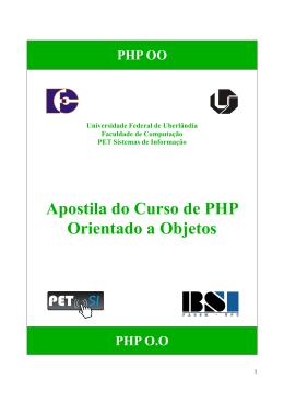 Apostila PHP - PET-SI UFU - Universidade Federal de Uberlândia