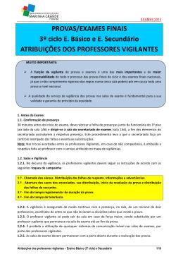 Informações para os Professores Vigilantes