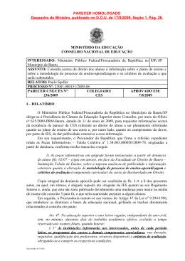 Parecer CNE/CES nº 236/2009