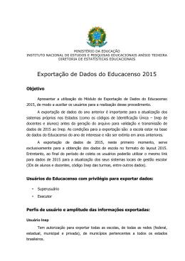 Exportação de Dados do Educacenso 2015