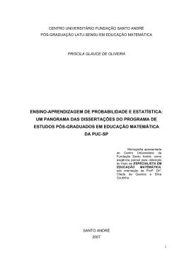ensino-aprendizagem de probabilidade e estatística - PUC-SP