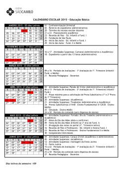CALENDÁRIO ESCOLAR 2015 – Educação Básica