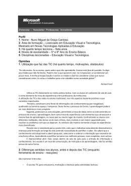Nuno Miguel da Graça Cardoso. 2. Área de formação – Licenc