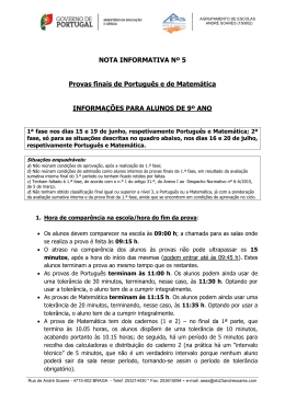 9º ano - Agrupamento de Escolas André Soares