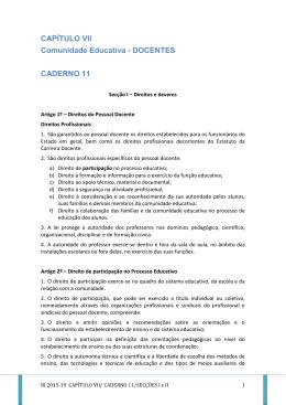 CAPÍTULO VII Comunidade Educativa