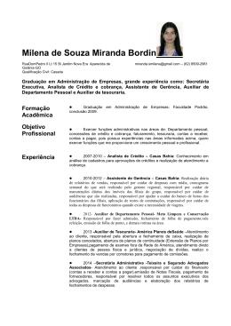 Milena de Souza Miranda Bordin