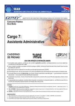 Cargo 7 - CESPE / UnB