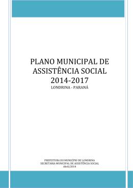 PLANO MUNICIPAL DE ASSISTÊNCIA SOCIAL 2014-2017
