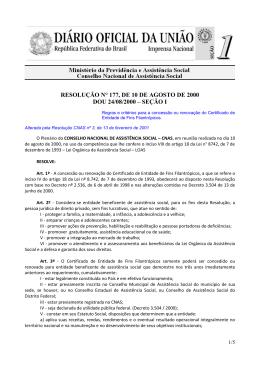 ministério da previdência e assistência social - Ministério Público