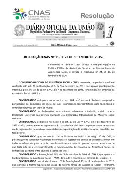 resolução 11/2015 do CNAS