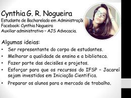 Cynthia Gabrielle Ribeiro Nogueira