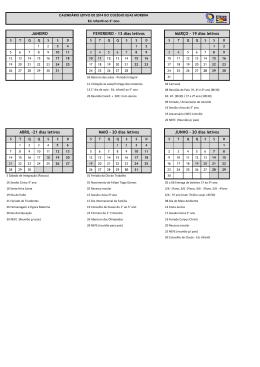 calendário anual - Colégio Cenecista José Elias Moreira