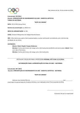 destacar e devolver para a professora rosana, até o dia 11/11/2014