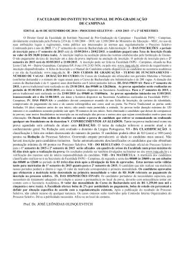FACULDADE DO INSTITUTO NACIONAL DE PÓS