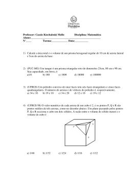 Professor: Cassio Kiechaloski Mello Disciplina: Matemática Aluno: N
