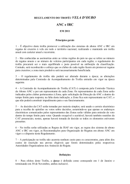 ANC e IRC - Associação Nacional de Cruzeiros