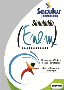 1º Simulado ENEM - Linguagens, Códigos e sua