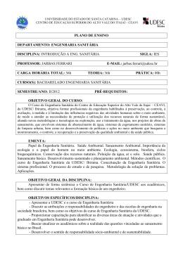 engenharia sanitária disciplina: introdução a eng - Ceavi