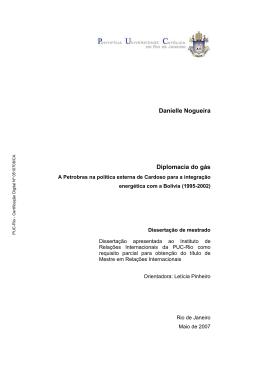 Danielle Nogueira Diplomacia do gás - Maxwell - PUC-Rio