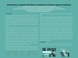 Autoestima e relações familiares e sociais de crianças obesas