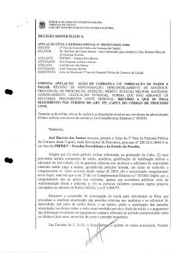 DECISÃO MONOCRÁTICA José Barreto dos Santos intentou